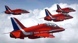En vol avec les Red Arrows
