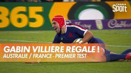 Les deux essais supersoniques de Gabin Villière contre les Wallabies : Australie / France - Premier Test