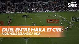 Duel entre Haka et Cibi avant All Blacks / Fidji : Nouvelle-Zélande / Fidji