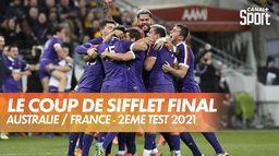 Le coup de sifflet final de cet incroyable Australie / France : 2ème test