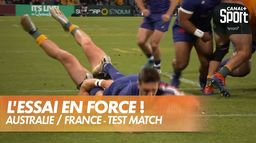 Baptiste Couilloud marque le 1er essai de la France ! : Australie / France - 3ème test-match