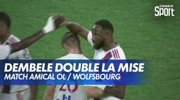 Dembele double la mise pour Lyon