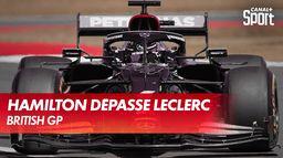Le dépassement d'Hamilton sur Leclerc
