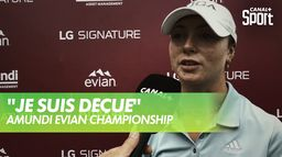 La réaction de Lucie Malchirand après le 4ème tour -  Amundi Evian : Amundi Evian Championship