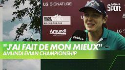 La réaction de Céline Herbin après le 4ème tour - Amundi Evian : Amundi Evian Championship