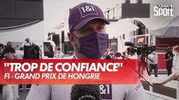 Réaction de M. Schumacher après son élimination  - GP de Hongrie