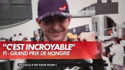 E. Ocon réagit après sa victoire - GP de Hongrie