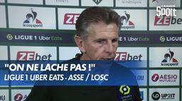 La réaction de Claude Puel après ASSE / LOSC - Ligue 1 Uber Eats