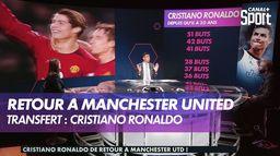Cristiano Ronaldo de retour à Manchester United