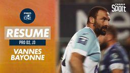Le résumé de Vannes / Bayonne