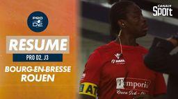 Le résumé de Bourg-en-Bresse / Rouen
