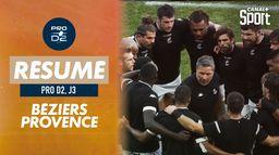 Le résumé de Béziers / Provence Rugby