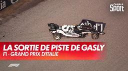 La sortie de piste de Pierre Gasly en qualification sprint