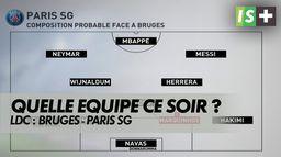 Quelle équipe ce soir face à Bruges ?