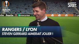 La légende Steven Gerrard au micro CANAL avant Rangers / Lyon