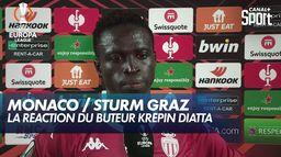 Monaco / Sturm Graz : la réaction du buteur Krépin Diatta