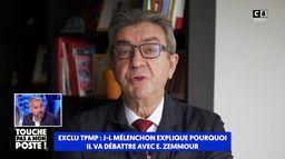 """Jean-Luc Mélenchon : """"Eric Zemmour répand le venin de la division"""""""