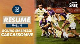 Le résumé de Bourg-en-Bresse / Carcassonne