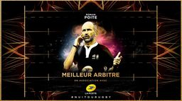 Romain Poite reçoit son 6e trophée de Meilleur Arbitre