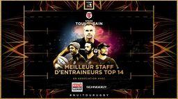 Le Trophée du Meilleur Staff de Top 14 revient au Stade Toulousain