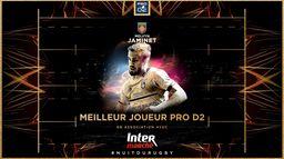 Le doublé pour Melvyn Jaminet, élu Meilleur Joueur de Pro D2