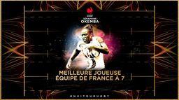 Séraphine Okemba élue Meilleure Joueuse de l'Équipe de France à 7