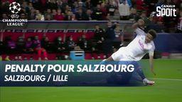 Salzbourg ouvre le score sur penalty contre le LOSC