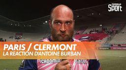 La réaction d'Antoine Burban