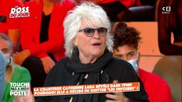 """Catherine Lara quitte """"Les Enfoirés"""" : elle explique son choix dans TPMP !"""