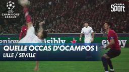 Retourné acrobatique d'Ocampos - Lille / Séville