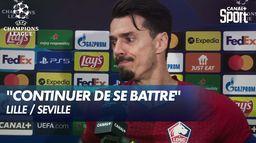 La réaction de José Fonte après le nul face à Séville - Lille / Séville