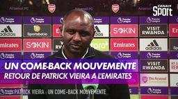 Le come-back de Patrick Vieira à l'Emirates