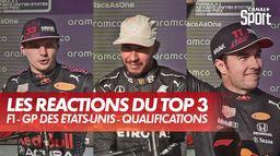 Les réactions de Verstappen, Hamilton et Perez après les qualifications - GP des États-Unis