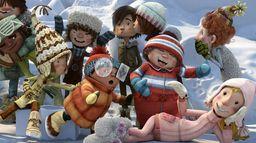 La bataille géante de boules de neige