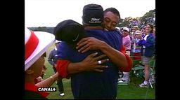 La première veste verte de Tiger Woods