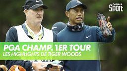 Les highlights de Tiger Woods : PGA Championship 2020 - 1er Tour