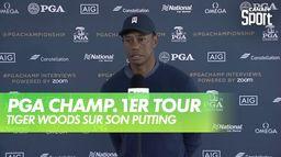 "Tiger Woods : ""j'ai dû rallonger mon putter"" : PGA Championship 2020 - 1er Tour"