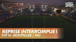 Les lumières du stade s'éteignent en plein match ! : Montpellier / Pau