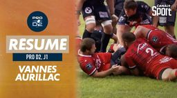 Le résumé de Vannes / Aurillac : Pro D2 - 1e journée