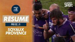 Le résumé de Soyaux / Provence Rugby : Pro D2 - 1e journée