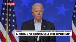 Joe Biden : « Nous serons déclarés vainqueurs. »