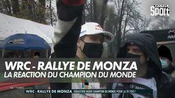 La réaction de Sébastien Ogier après son 7ème titre : WRC - Rallye de Monza
