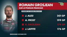 Romain Grosjean sur le podium : Grand Prix de Sakhir