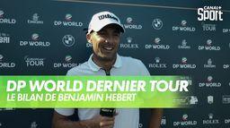 Le bilan de Benjamin Hébert : DP World Tour Chp - Dernier tour