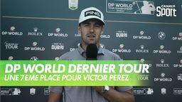 """Victor Perez : """"Dans l'ensemble bien, très bien..."""" : DP World Championship dernier tour"""