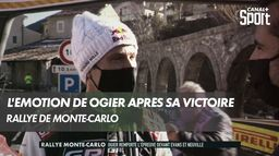 L'émotion de Ogier après sa victoire à Monte-Carlo : Rallye Monte-Carlo