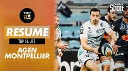 Le résumé d'Agen / Montpellier