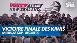 Victoire finale pour les Kiwis : Americas Cup : Régate 10