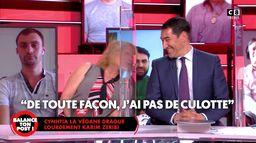 Cynthia, comédienne, drague lourdement Karim Zéribi pour le 1er avril !