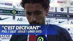 La réaction de Marquinhos après PSG / Lille : Ligue 1 Uber Eats